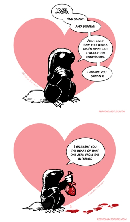 morally ambiguous honey badger
