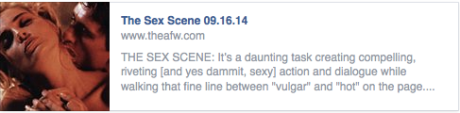 Academy of Film Writing September Classes 2014:  The Sex Scene