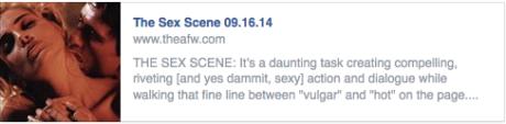 Academy of Film Writing September Classes 2014:  The Sex Scene