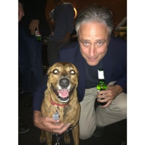 Pumkin the Dog with Jon Stewart, AFF 2014