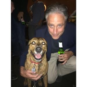 Pumkin the Dog with Jon Stewart, AFF 2014