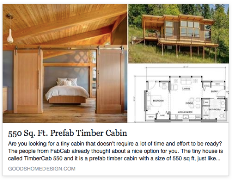 very cool prefab cabin