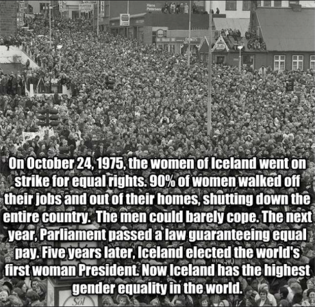 Iceland's 1975 Strike for Equal Pay for Women