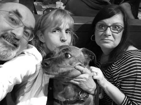 Peter Andrews, Chesher Cat, Pumpkin the Dog, and Jodi Lustig -- Best 5150 Photo Ever, thank you New York yay!