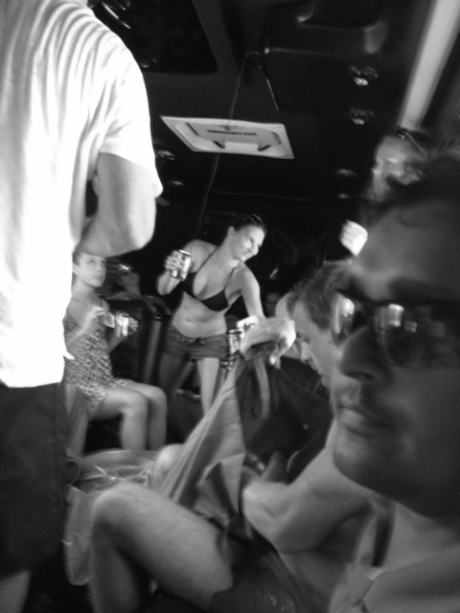 There was party bus carousing.
