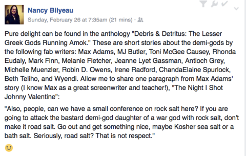 Nancy Bilyeau on Debris & Detritus